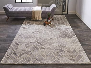 Feizy Rugs Asher Gray / Natural Rectangular Round Area Rug FZ8769FGRAYNATURAL