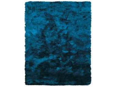 Feizy Indochine Rectangular Teal Area Rug FZ4550FTEAL
