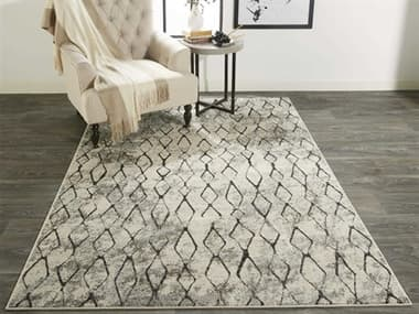 Feizy Rugs Kano Sand / Charcoal Rectangular Round Area Rug FZ3872FSANDCHARCOAL