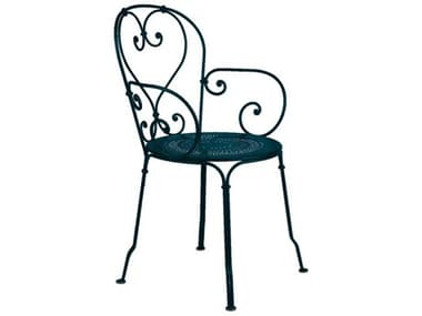 Fermob 1900 Steel Metal Dining Chair (Set of 2) FER2202
