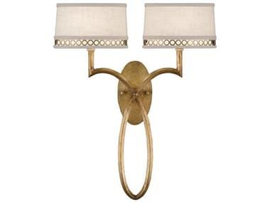 Fine Art Lamps Allegretto Gold 784750-2ST Two-Light Wall Sconce FA7847502ST
