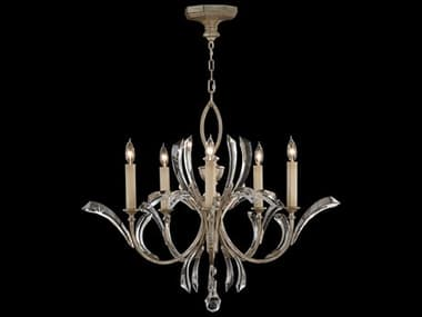 Fine Art Lamps Beveled Arcs 702240ST Five-Light 36'' Wide Grand Chandelier FA702240ST