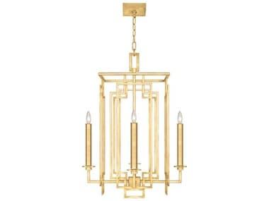 Fine Art Lamps Cienfuegos Gold Leaf 4-light 22'' Wide Mini Chandelier FA889040SF30