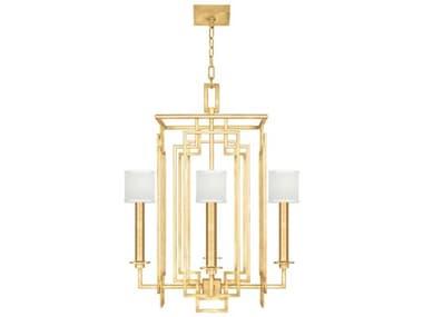 Fine Art Lamps Cienfuegos Gold Leaf 4-light 24'' Wide Mini Chandelier FA889040SF310