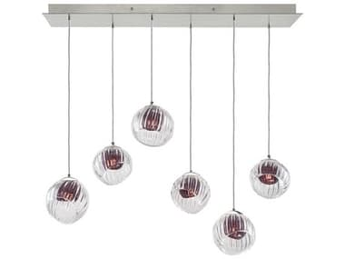 Fine Art Lamps Nest Silver 48'' Wide Glass Island Light FA8977401AM