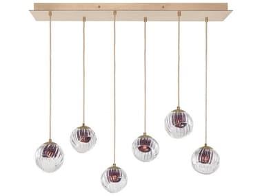 Fine Art Lamps Nest Gold 48'' Wide Glass Island Light FA8977402AM