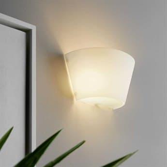Fontana Arte Ananas White Glass Wall Sconce FONULM3302