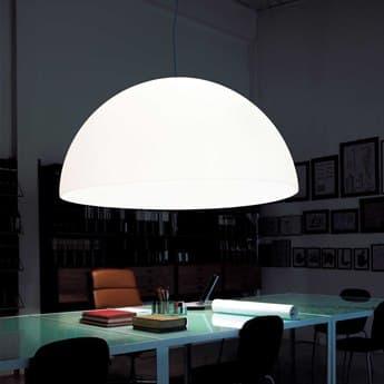 Fontana Arte Avico White Three-Lights 47'' Wide Pendant Light FONUL55610BI