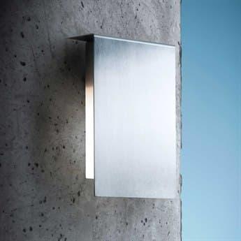 Fontana Arte Corrubrdo Frosted Stainless Steel 8.3'' Wide Outdoor Wall Light FONU3929IX