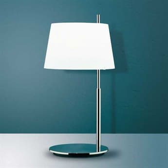 Fontana Arte Passion Chrome with Opaline Frosted Glass Table Lamp FONU36100