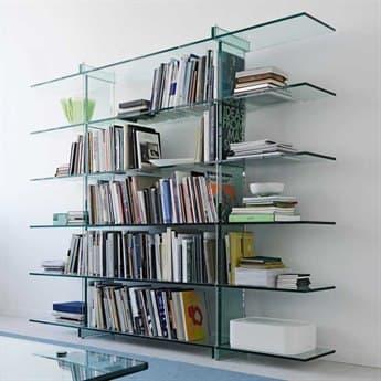 Fontana Arte Testo Float Glass Bookcase FON27576
