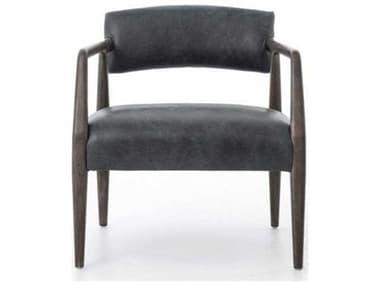 Four Hands Abbott Tyler Chaps Ebony Accent Chair FSCABT42