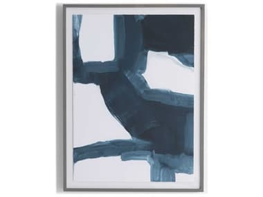 Four Hands Art Studio Blue Course Ii By Gold Rush Art Co. Wood Wall Art FSULOF1118