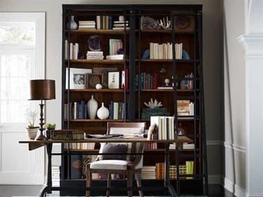 Four Hands Irondale 39 x 18 Rectangular Matte Black Ivy Bookcase And Ladder FSCIRD85H4E2