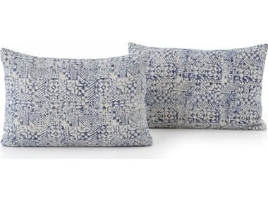 Four Hands Faded Denim Willow Pillows (Set of 2) FSIWIL018