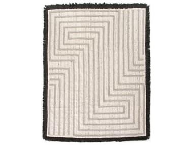 Four Hands Willow Dax Maze Heather Grey / Black Rectangular Area Rug FSIWIL390