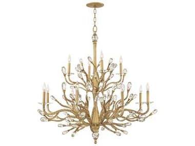 Fredrick Ramond Eve Champagne Gold 12-Light 49'' Wide Grand Chandelier FDFR46810CPG