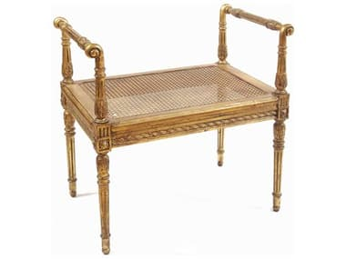 French Market Collection Alina Gold Accent Stool FMCB3SGOLD