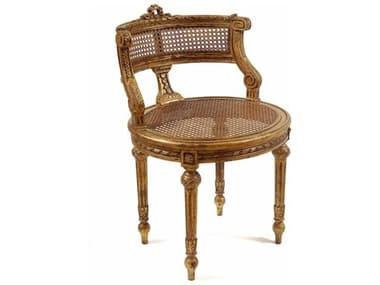 French Market Collection Lisette Gold Accent Stool FMCS2GLD