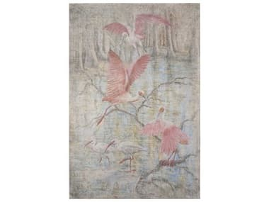 French Market Collection Pink Spoonbill Canvas Wall Art FMCART07