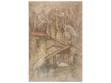 French Market Collection White Egrets Canvas Wall Art FMCART09