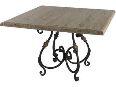 French Market Collection Rustic 42'' Wide Square Dining Table FMCTB3CR103.5X3.5