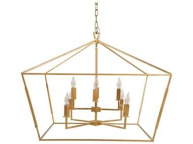 Gabby Adler Vintage Gold Eight-Light 33'' Wide Chandelier GASCH153425