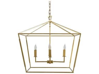 Gabby Adler Vintage Gold Four-Light 25'' Wide Chandelier GASCH153430