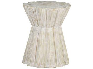 Gabby Annie Light Whitewashed Wood 20'' Wide Round Side Drum Table GASCH155195