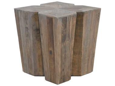 Gabby Arthur Vintage Gray Elm 20'' Wide Square End Table GASCH153875