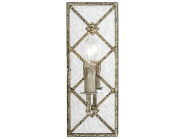Gabby Blake Antique Mirror with Distressed Gold Leaf Wall Sconce GASCH151160