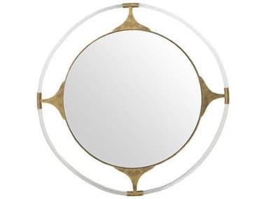 Gabby Callisto Gilded Gold & Clear Acrylic 41'' Wide Round Wall Mirror GASCH158195