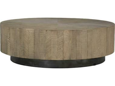 Gabby Colton Charcoal Oak & Black 48'' Wide Round Coffee Table GASCH155295