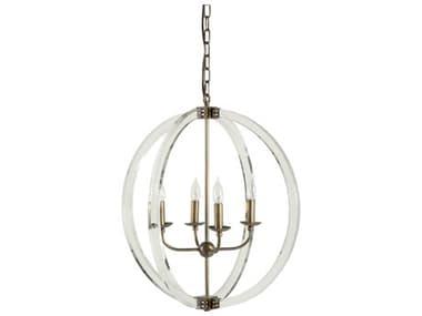 Gabby Grayson Antique Brass Four-Light 24'' Wide Mini Chandelier GASCH156015