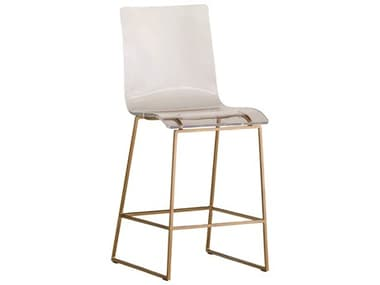 Gabby King Antique Gold & Clear Acrylic Counter Stool GASCH151140