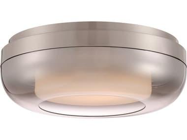 George Kovacs First Encounter Family Brushed Nickel 1-light 15'' Wide Glass LED Flush Mount Light GKP9522084L