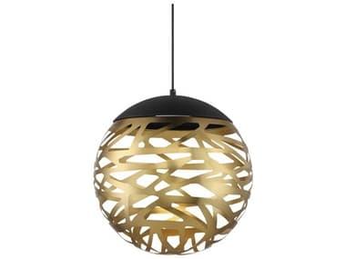 George Kovacs Golden Eclipse Coal And Honey Gold 20-light 14'' Wide LED Pendant GKP934688L