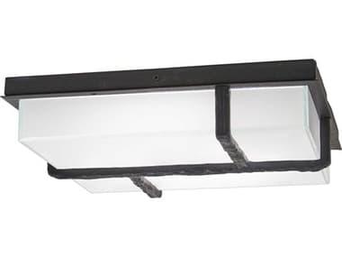 George Kovacs Sirato Spanish Iron 1-light Glass LED Outdoor Convertible Flush Mount / Wall Light GKP1349039L