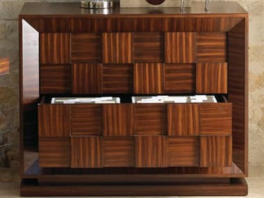 Global Views Dark Walnut Stain With Satin Lacquer File Cabinet GV2340