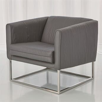 Global Views Stainless Steel / Nickel Accent Chair GV991845