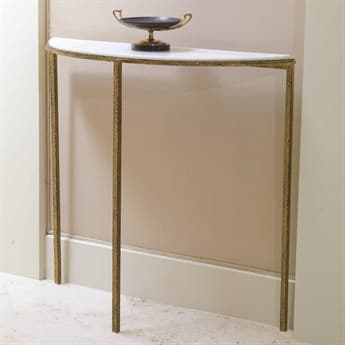 Global Views Gold Leaf 38'' Wide Demilune Console Table GV991770
