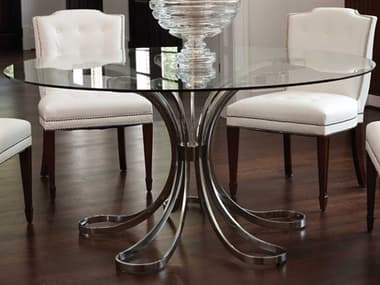 Global Views Polished Nickel 60'' Wide Round Dining Table GV991416