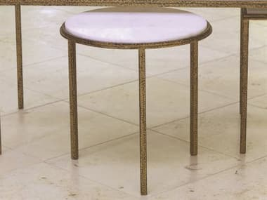 Global Views Hammered Gold 16'' Round End Table GV991773