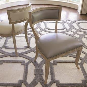 Global Views Klismos Grey Leather Dining Side Chair GV2426