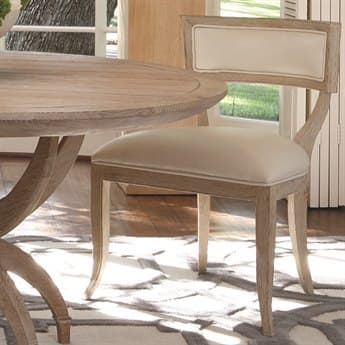 Global Views Klismos Beige Leather Dining Side Chair GV2428