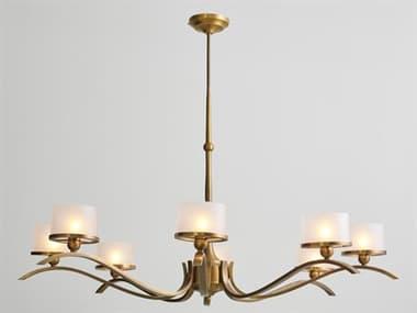 Global Views Light Bronze 8-light 55'' Wide Glass GV993054