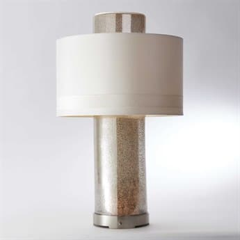Global Views Lighthouse Nickel Three-Light Buffet Lamp GV881283