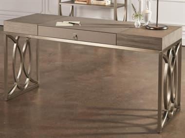 Global Views Grey / Polished Stainless Steel Secretary Desk GV420052