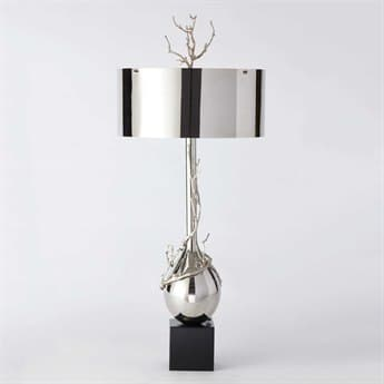 Global Views Twig Bulb Nickel Two-Light Lamp GV991797