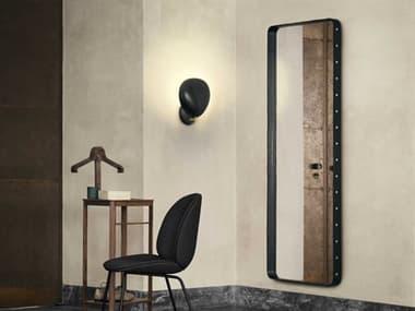 Gubi Adnet Black Leather 28''W x 71''H Rectangular Floor Mirror GUB10004051